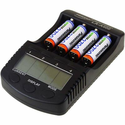 Powery Chargeur pour NiCd/NiMH- Li-Ion batteries incl. 4x batteries AA 2700mAh P