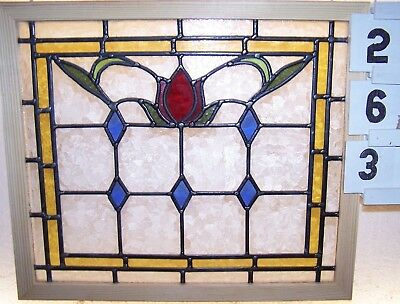 Old Leaded English Stained Glass Window...