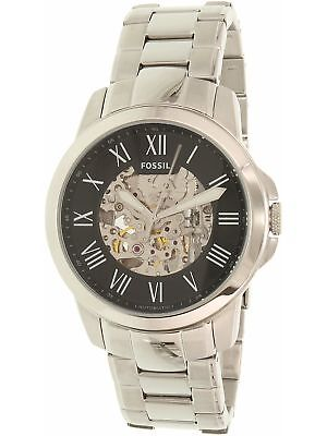 Fossil Men's Grant ME3103 Silver Stainless-Steel Plated Japanese Automatic Dr...