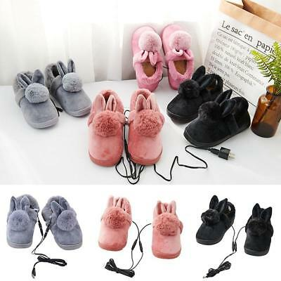 6df25a2fe75a Cortoon USB Heating Shoes Slippers Keep Feet Warmer Electric Powered  Coldproof