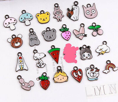 Lot cartoon mix cute Metal Charms necklace Pendants DIY Jewellery Making gifts
