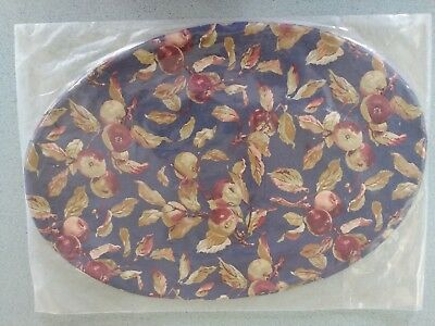 """Longaberger Early Harvest fabric Placemats set/2 19"""" X 13"""" reversible NEW"""