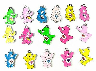 80 pcs multicolor mix care bears Metal Charms pendants Jewellery Making crafts