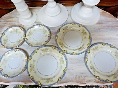LOT Of 6 NORITAKE China Saucers & Bread/Butter Plates AZURE
