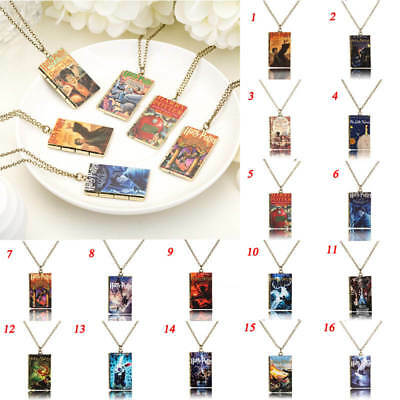 Harry Potter Necklace Book Style Film Pendant Jewelry Cosplay Alloy Alice Gift