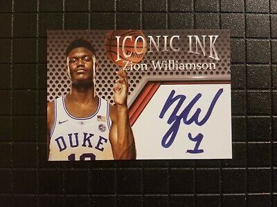 Zion Williamson Rookie Iconic Ink Duke Autograph Edition Card ~ FREE SHIPPING