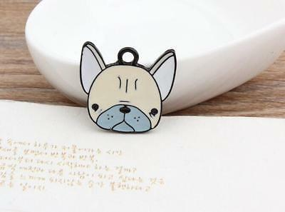 lot cartoon cute animal dog head Metal Charms Pendants DIY Jewellery Making
