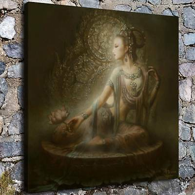 "12""x12"" Abstract buddha poster god HD Canvas Prints Home Room Decor Wall picture"