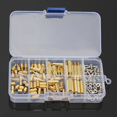 120pcs M3 metric Male Female Hex Brass Standoffs Spacer Screws Assortment Nuts .