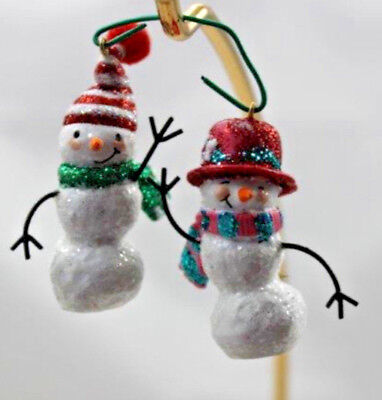 2 Hallmark Keepsake Jolly Snowman Miniature Collection 2006 Christmas Ornaments