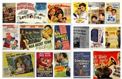 Jack Benny 17  Movie Lot ~ College Holiday ~ Man About Town ~ Horn Blows ~ Buck
