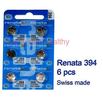 Authentic Renata SR936SW 394 Silver Oxide Battery x6 pcs SWISS made FREE post