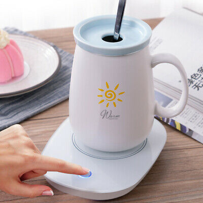 55℃ Electric Mug Cup Heater Milk Tea Coffee Drink Warmer Tray Mat Office & Home