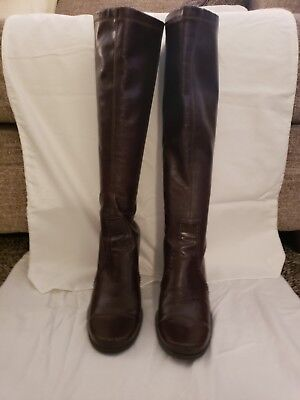 85ab0deb18a FRANCO SARTO Brown Knee High Boots. Made in Brazil. Women s sz 7M Zip up