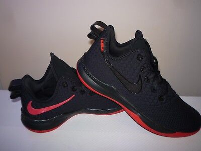 info for 5fcb6 c90c0 NIKE MENS LEBRON WITNESS III BLACK RED BASKETBALL SHOES 2019 Size 11 UK 46  EUR