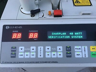 Lumenis Sharplan 40C Laser. Powers up with key and taken from a working environm