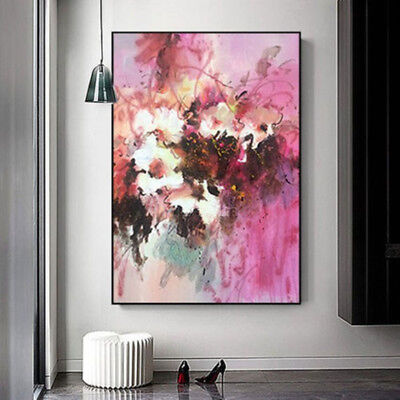 Modern Fashion Abstract Hand-painted Flower Oil Painting Home Decor Art Fashion