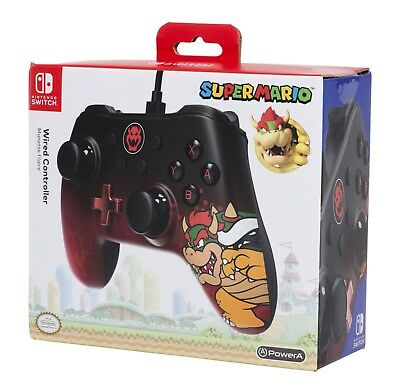 MANETTE FILAIRE OFFICIELLE BOWSER  NINTENDO SWITCH Neuf