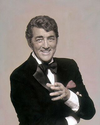 "DEAN MARTIN THE RAT PACK HOLLYWOOD ACTOR SINGER 8x10"" HAND COLOR TINTED PHOTO"