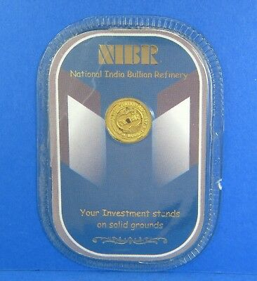 National India Bullion Refinery Sealed Coin - 1 Gram of 99.50 Gold