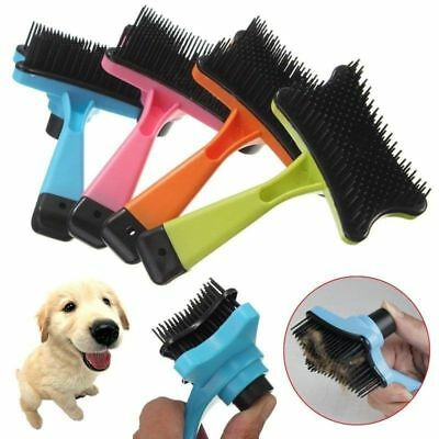 Pet Dog Cat Rabbit Grooming Self Cleaning Slicker Brush Comb Shedding Hair Fur