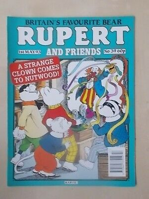 RUPERT AND FRIENDS - MARVEL COMIC No 39 - MAY 1st 1993