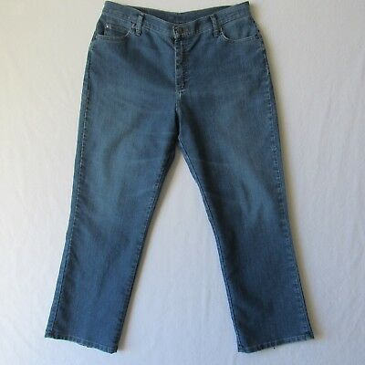 Lee Womens Jeans Size 16 Short Stretch Straight Leg Blue 35W x 29L
