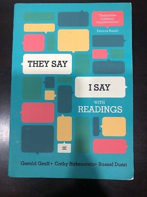 They Say I Say By Graff, Birkenstein, Durst 3rdEd FREE SHIPPING