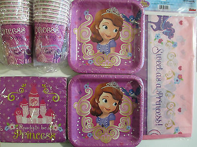 SOFIA THE FIRST : Princess In Training DISNEY Birthday Party Supply Kit For 16