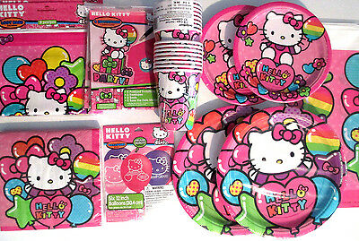 8 HELLO KITTY Rainbow Birthday Party Loot Gift Treat Plastic favor ... 5e9d6d09a6464