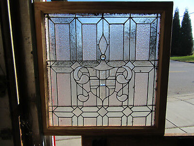 ~ ANTIQUE AMERICAN STAINED GLASS WINDOW ~ 31 x 31.5 ~ ARCHITECTURAL SALVAGE
