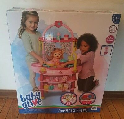 Baby Alive Cook And Care 3 In 1 Set Plus 28 Accessories Multipurpose Kitchen Set