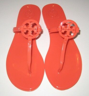 186c0c33ca4e21 TORY BURCH MINI Miller Jelly Flat Thong Sandal Poppy Coral Orange ...