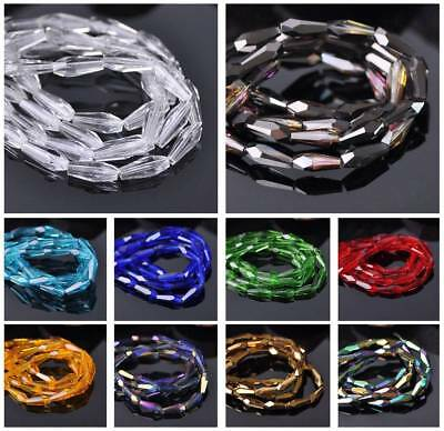 Teardrop Faceted Cut Crystal Glass Loose Spacer Craft Beads 10mm/12mm/15mm 15pcs