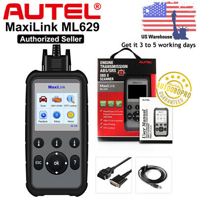 Autel Engine ABS SRS Airbag Gearbox OBD2 Scanner Auto Code Erase Diagnostic Tool