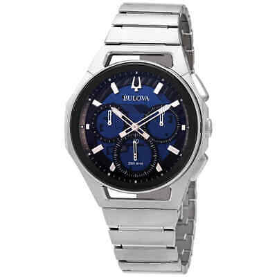 Bulova Curv Chronograph Quartz Blue Dial Men's Watch 96A205