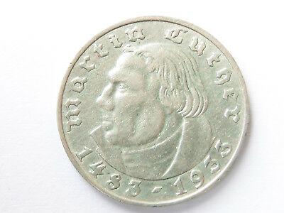 G232   DRITTES REICH 2,- Mark 1933 A Luther