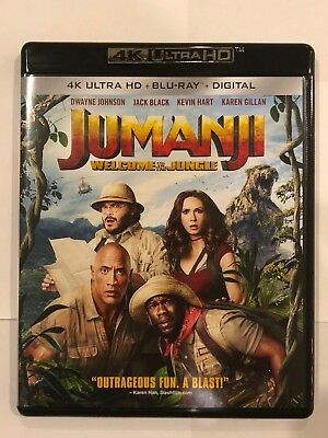 Jumanji Welcome to the Jungle (4K Ultra HD Disc ONLY) + ARTWORK/CASE! SEE INFO!
