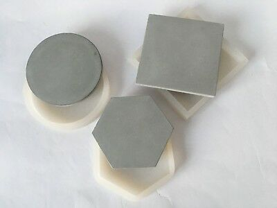Silicone Mold Coaster Tray Dish Geometric mould concrete round cube hexahedron