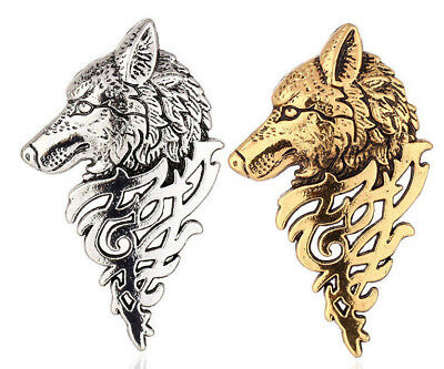 PAIR of Wolf Pin Detailed Lapel Game Thrones Real Jewelry Replica TV Jewellery