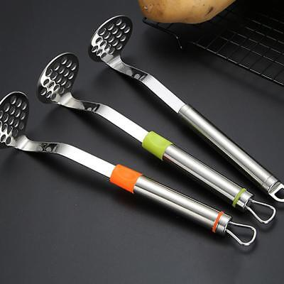 Kitchen Food Potato Ricer Masher Fruit Juicer Press Stainless Steel Mash Tool HD