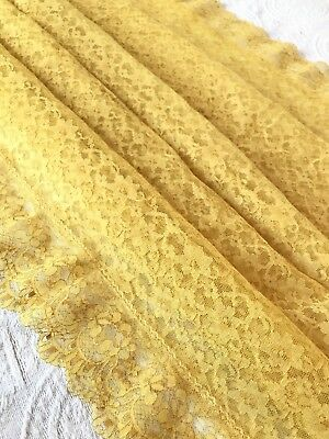 Vintage Yellow Gold Lace Tablecloth Oblong 88x63