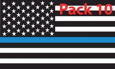 10x Thin Blue Line American Flag Vinyl Decal sticker Police Lives Matter support