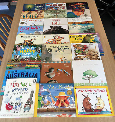 24 Quality AUSTRALIAN CHILDREN'S PICTURE BOOKS - P Crumble, Elizabeth Honey, Mem
