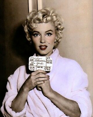 """MARILYN MONROE THE SEVEN YEAR ITCH 1955 ACTRESS 8x10"""" HAND COLOR TINTED PHOTO"""