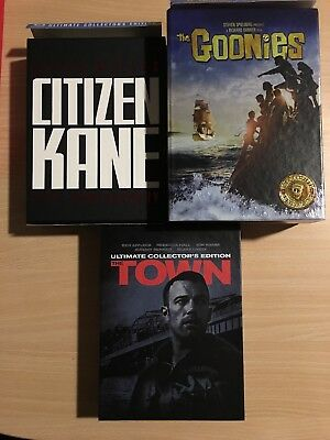 Collector's Edition Bluray Lot: Citizen Kane, Goonies, The Town Oop
