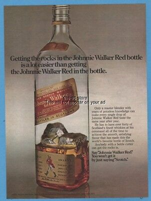 1975 Johnnie Walker Red Label Scotch Whisky vintage bottle photo magazine ad