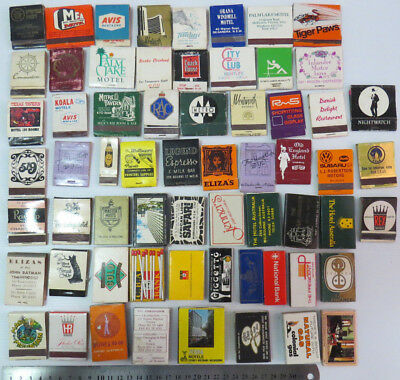 •••AUSTRALIAN MATCHBOXES • USED Lot of 63 Boxes • Mixed Brands with Matches •••