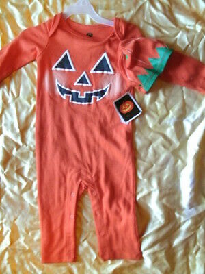 CHILD COSTUME OUTFIT *PUMPKIN* infant 6-9 months NEW WITH PACKAGING