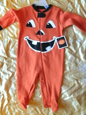 CHILD COSTUME SLEEPER *PUMPKIN* infant 3-6 months NEW WITH PACKAGING